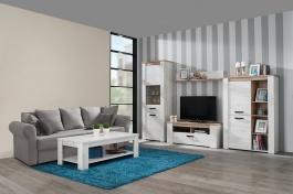 Malý obývací pokoj Henry - dub bílý/dub šedý