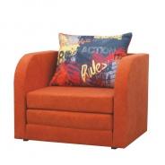 Rozkládací křeslo, oranžová, RENO