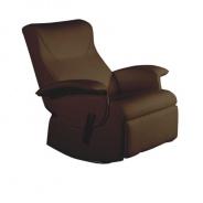 relaxační křeslo, hnědá textilní kůže PU, ROMELO C3 | Tempo Kondela
