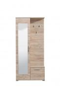 Předsíňová stěna se zrcadlem Galina - dub šedý