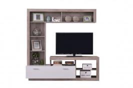 Obývací stěna Jonas - dub šedý/bílá