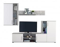 Obývací sestava Zachary - bílá/beton