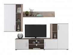 Obývací sestava Zachary - bílá/dub šedý