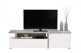 Televizní stolek Drago - beton/bílá