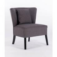 Designové křeslo s polštářem, tmavě šedá barva / černý nohy, BIRBA NEW