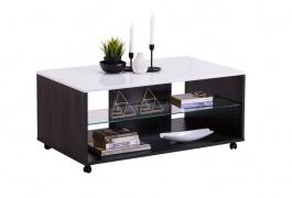 Konferenční stolek Carter - dub černý/bílá