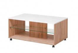 Konferenční stolek Carter - dub zlatý/bílá