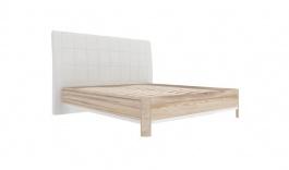 Postel s roštem Xenie 160x200cm - dub desira/ekokůže bílá