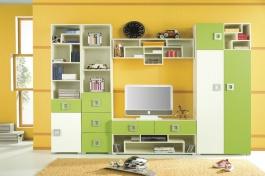 Dětský pokoj Relax E - krémová/zelená
