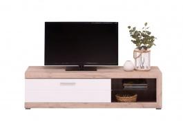 Televizní stolek Ronja - dub šedý/bílá
