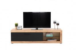 Televizní stolek Ronja - dub zlatý/černá