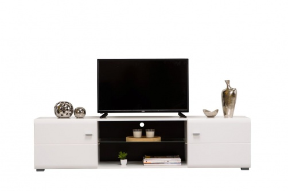 TV stolek Derfel - bílá/černá