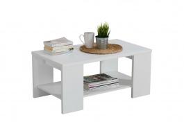 Konferenční stolek 90x50cm Kimora - bílá