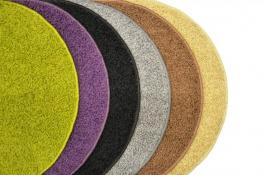 Koberec Color Shaggy - švestka - kruh