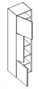 D40SL d. skříňka levá ARUBA sonoma/černá
