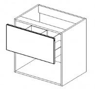 DUM60S/1 d. skříňka pod umyvadlo ARUBA sonoma/bílá