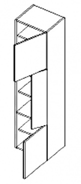 D40SL d. skříňka pravá ARUBA sonoma/bílá