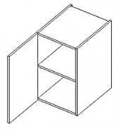 D40 d. skříňka levá ARUBA sonoma/černá