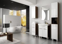 Koupelnová sestava BALI bílá/ořech
