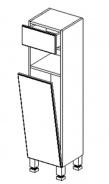 D30S/1 d. skříňka se zásuvkou a košem BALI bílá/ořech