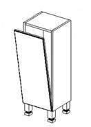 D30 d. skříňka s košem BALI bílá/ořech