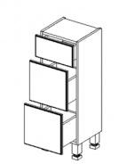 D30S/3 d. skříňka se zásuvkami BALI bílá/ořech