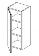 W30 h. skříňka BALI bílá/ořech levá