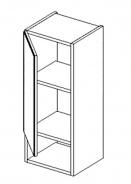 W30PD h. skříňka s regálem BALI bílá/ořech levá