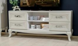 Televizní stolek Claudia - krémová
