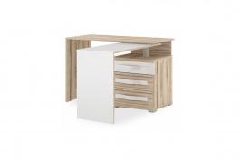 Psací stůl Xenie pravý - dub desira ash/bílá
