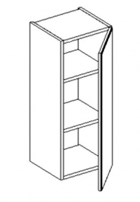 W30 h. skříňka BALI bílá/ořech pravá