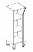 D30 d. skříňka BALI bílá/ořech pravá
