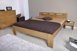 Manželská postel NELA - masiv buk