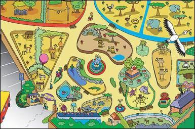 Detail koberce Zoo