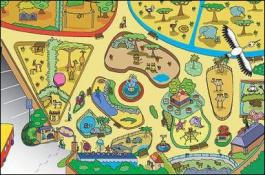 Dětský hrací koberec Zoo