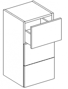 D30S/3 d. skříňka se zásuvkami CORAL výběr barev