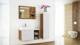 Koupelnová sestava BONITA II bílá lesk