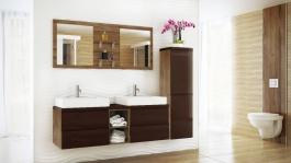 Koupelnová sestava BONITA hnědá lesk