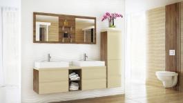 Koupelnová sestava BONITA vanilka lesk
