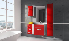 Koupelnová sestava CORAL II červená