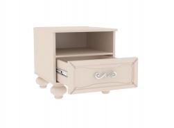 Noční stolek Claudia - krémová