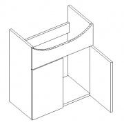 DUM50 d. skříňka pod umyvadlo NEPTUN wenge