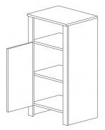 D45 d. skříňka TALIA akácie/vanilka levá