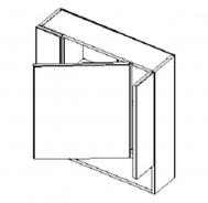 W70PD skříňka se zrcadlem PIRELLI duglaska bělená