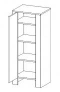 D45SL d. skříňka TALIA akácie/vanilka levá