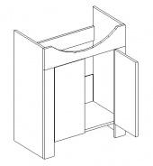DUM skříňka pod umyvadlo TALIA akácie/vanilka