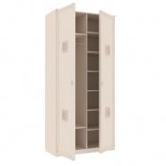 Dvoudveřová šatní skříň Claudia - krémová