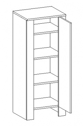 D45SL d. skříňka TALIA duglaska/bílá pravá