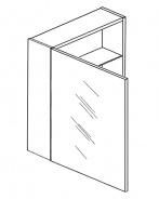 Skříňka W50 se zrcadlem levá wenge