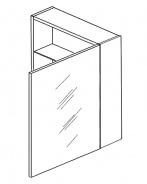 Skříňka W50 se zrcadlem pravá bílá